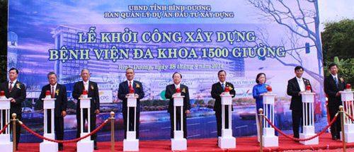 Khởi công xây dựng bệnh viện Đa Khoa Bình Dương 1500 giường
