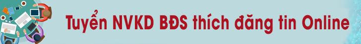 Tuyển NVKD BĐS thích kênh đăng tin online